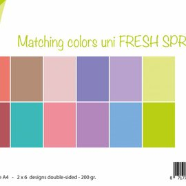 Paperset Matching Colors uni - Fresh Spring
