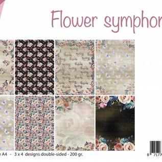 Papierset A4 - Flower Symphony