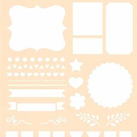 Polybesa stencil - Journaling Flags