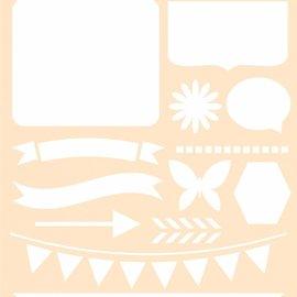 Polybesa Schablone - Journaling Schmetterling 6002/0853