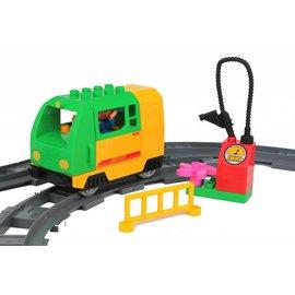 Huimei Electrische trein groen met rails en wagon