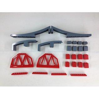 Huimei Spoorbrug van 100 cm, compatibel met de bekende merken