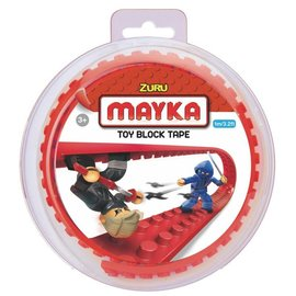 Zuru-Mayka Zuru-Mayka O1R Block Tape 2 Noppen 1m Rood - LEGO Compatible