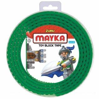 Zuru-Mayka Zuru-Mayka O2G Block Tape 2 Noppen 2m Groen - LEGO Compatible