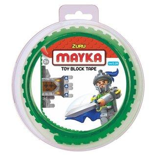 Zuru-Mayka Zuru-Mayka O1G Block Tape 2 Noppen 1m Groen - LEGO Compatible