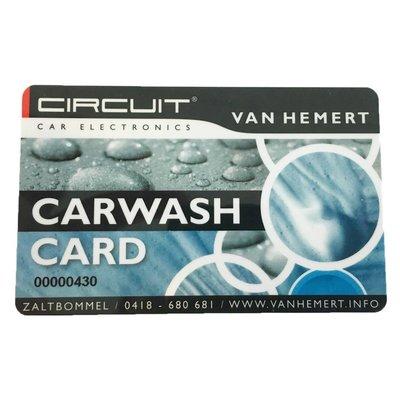 Carwash card