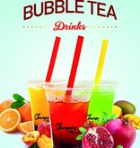 Bubble tea plakat A5