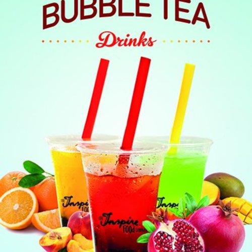 Bubble tea plakat A5