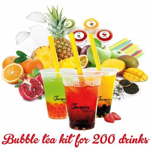Bubble tea kit voor starters voor 200 drankjes