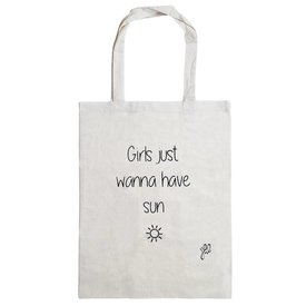 GIRLS JUST WANNA HAVE SUN TOTE BAG