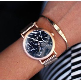 MY JEWELLERY LIMITED BLACK MARBLE WATCH