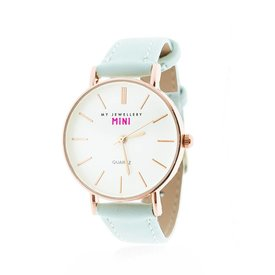 MY JEWELLERY LIMITED LIGHTBLUE ROSE GOLD WATCH