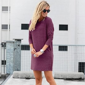 BURGUNDY SWEATERDRESS