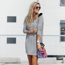 GREY SWEATERDRESS