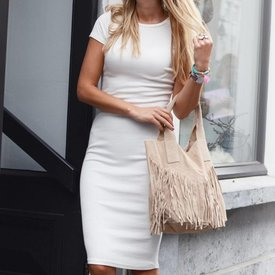 WHITE PENCIL DRESS