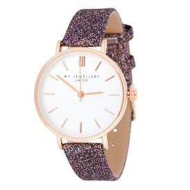 SPARKLE WATCH BROWN