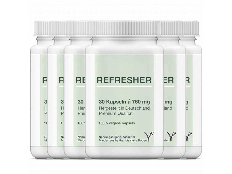 6 x Refresher-Grüner Tee Extrakt/Camellia Sinensis