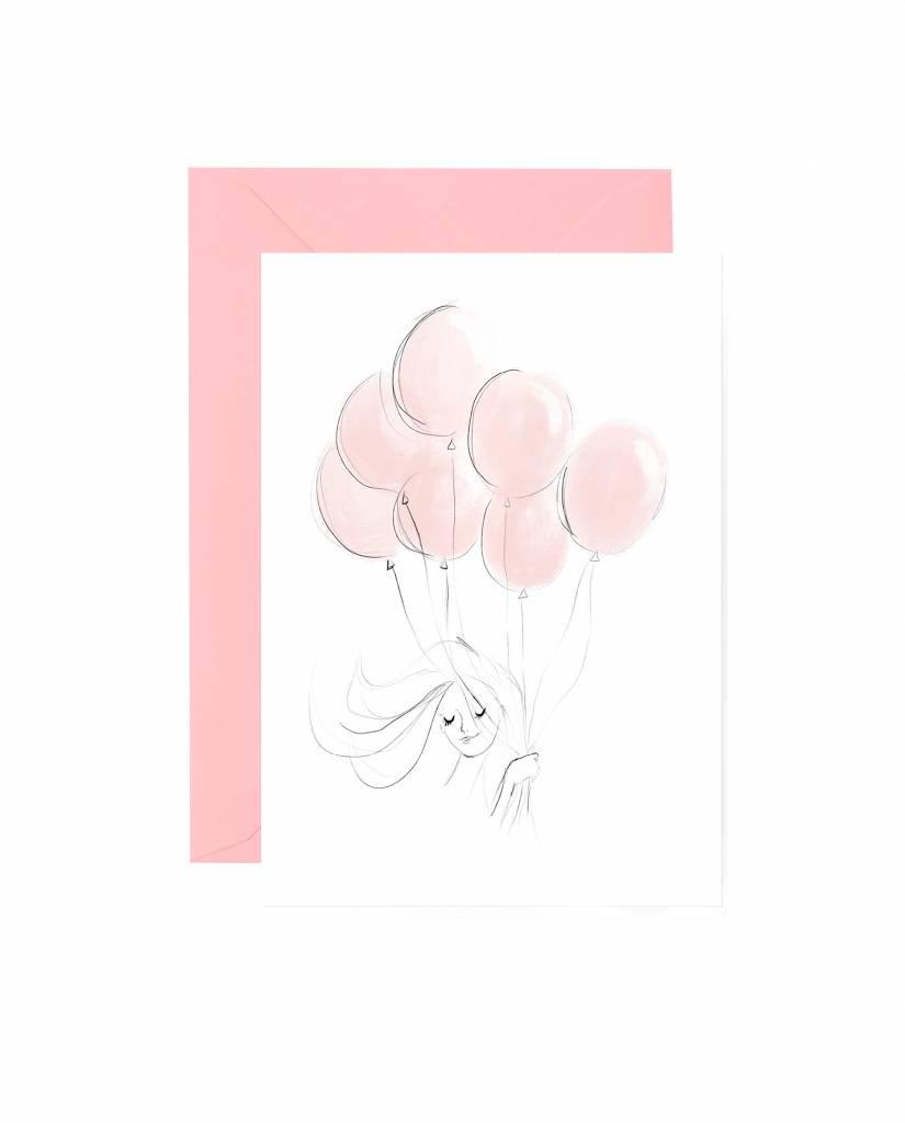 "Grußkarte ""Balloon"""