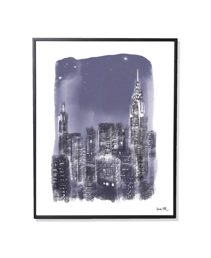 New York Rain - gerahmt