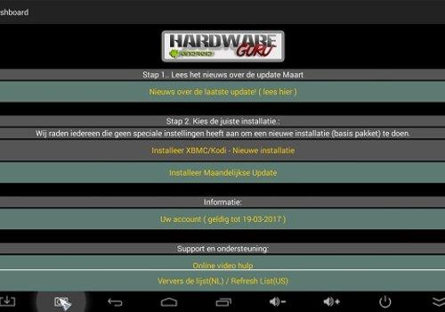 Nieuwe Installatie HardwareGuru