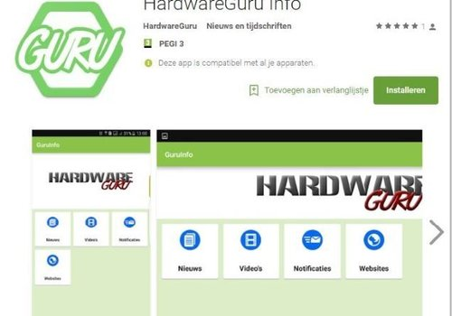 Nieuw HardwareGuru App