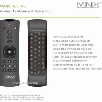 MINIX Neo-A3 AirMouse Controller/Keyboard with Mic