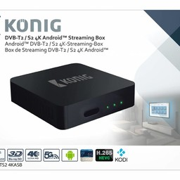 König König 4K DVB-T2 / DVB-S2 Android Streaming Box Fly Mouse