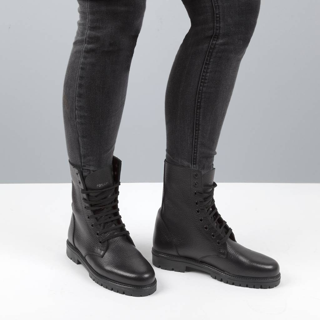 Leather boots high