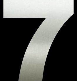 Huisnummer 7  RVS 30 cm groot