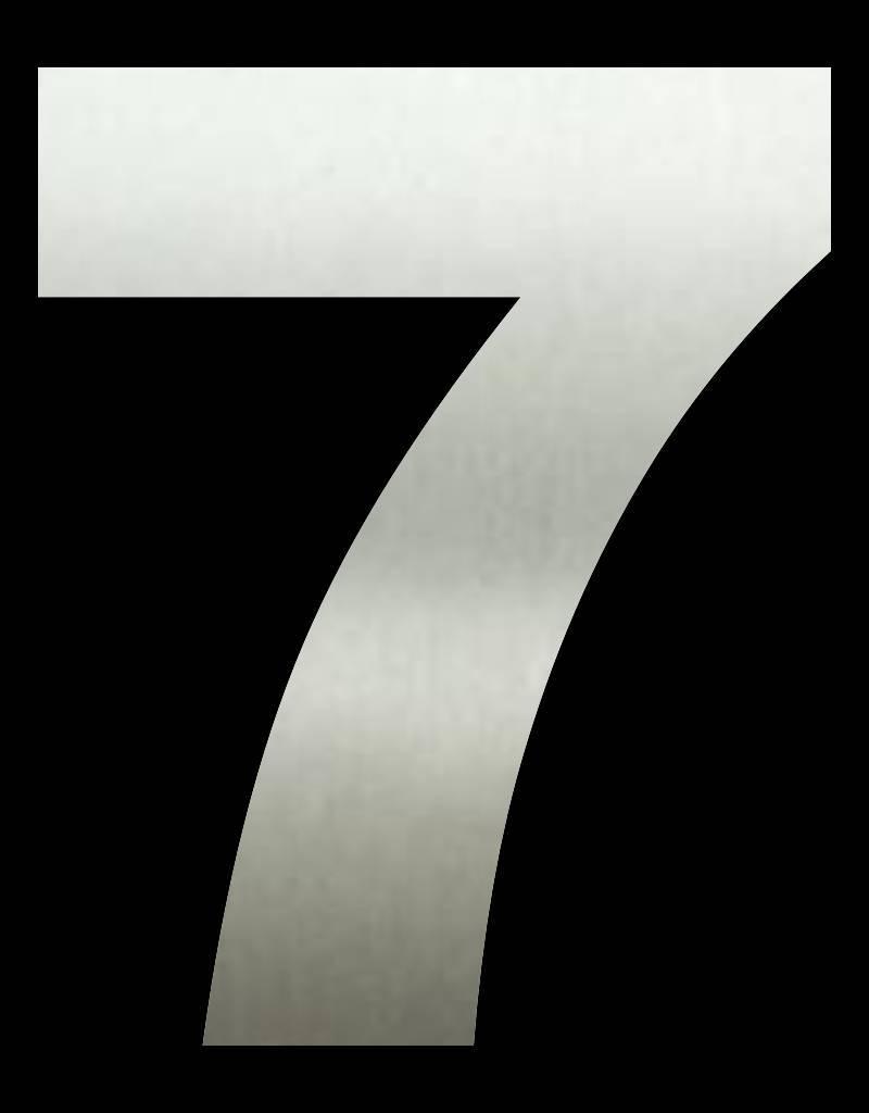 RVS Huisnummer 7 groot 30 cm