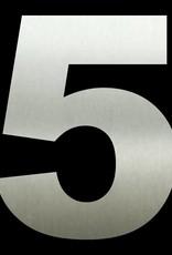 RVS Huisnummer 5 groot 50 cm