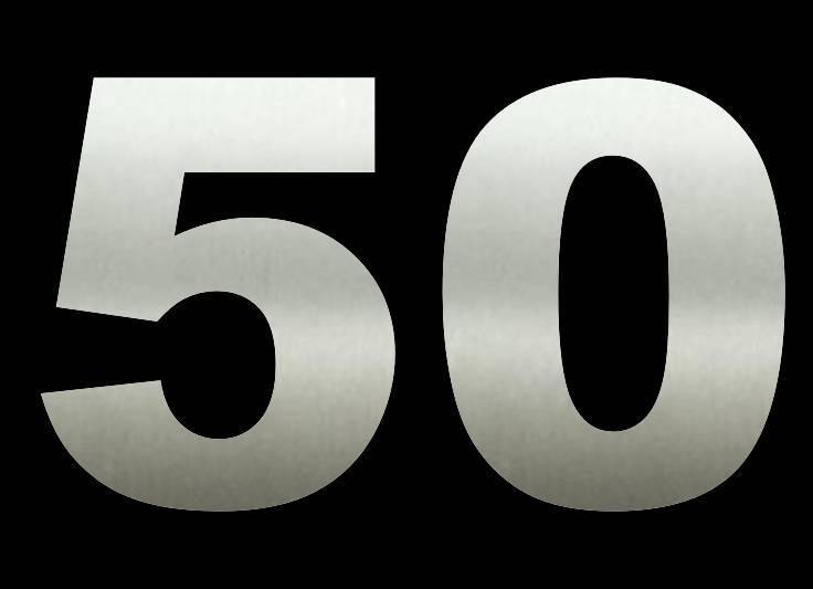 50 cm Huisnummers RVS Groot Bestellen