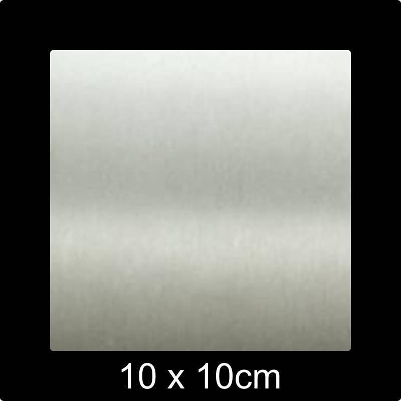 RVS Naamplaat 10x10 cm INOX