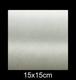 RVS Naamplaat 15x15 cm