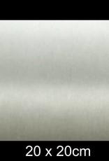RVS Naamplaat 20x20 cm INOX