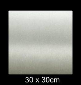 RVS Naamplaat 30x30 cm