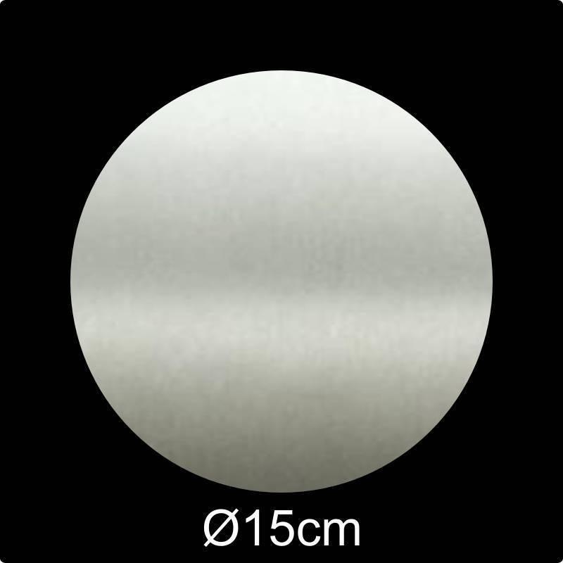 RVS Naamplaat rond diameter 15 cm INOX