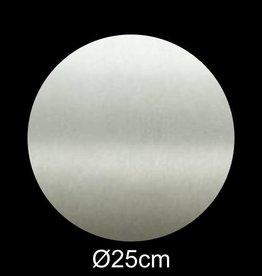 RVS Naamplaat rond diameter 25 cm