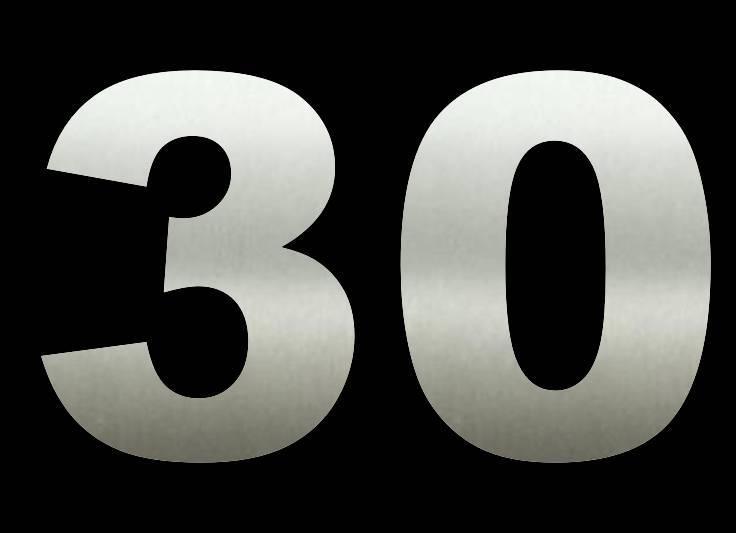 30 cm Huisnummers RVS Groot Bestellen
