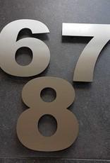 rvs inox cijfer 8 15cm opruiming