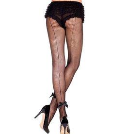 Music Legs Netpanty Met Strikjes - Zwart