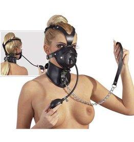 Zado Leren masker met dildo