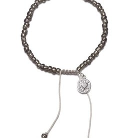 Proud Mama Proud Mama armband beads antraciet