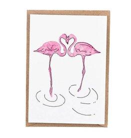 Studio Flash Studio Flash wenskaart flamingo