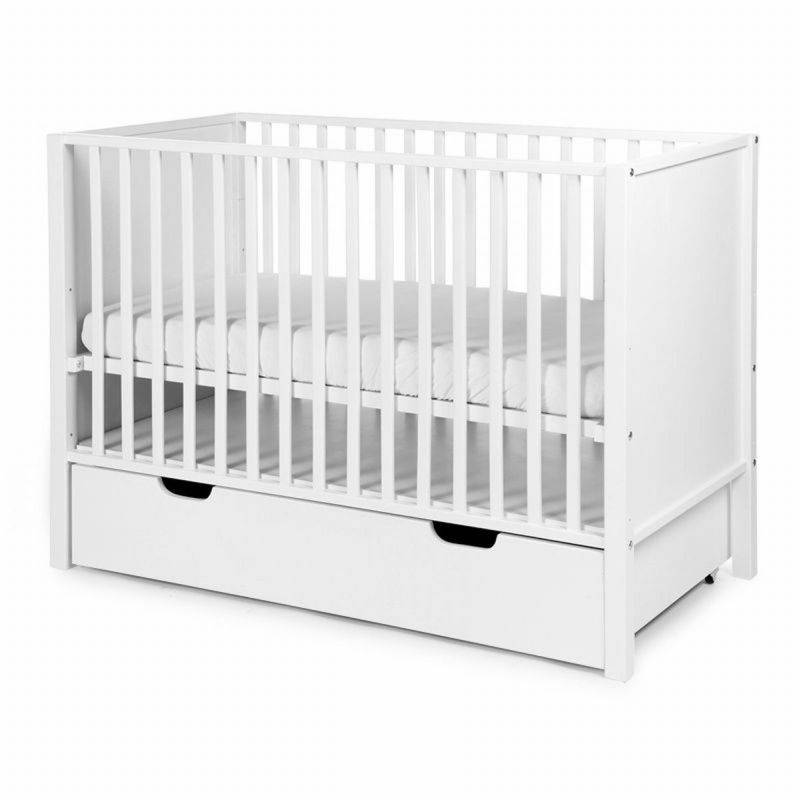 Childhome Childwood babybed + wielen beuk wit