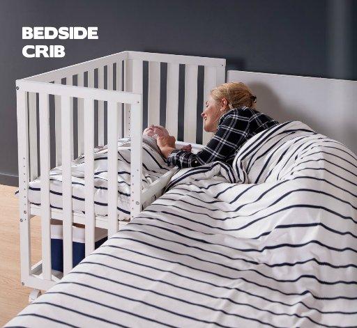 Childhome Childwood co-sleeper + wielen beuk naturel