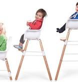Childhome Childwood evolu 2 stoel antraciet/wit 2 in 1 + beugel