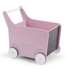 Childhome Childwood houten wandelwagen roze