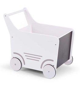 Childhome Childwood houten wandelwagen wit