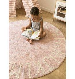 Lorena Canals Lorena Canals tapijt abc round vintage pink